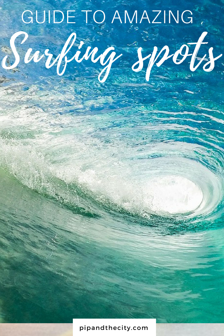 Awesome surfing spots around the world you need to visit. Sunshine, frothy waves, sandy beaches, exciting destinations and a waxed board, surfing and travelling surely go hand in hand? There are vast array of surf spots around the globe to choose from #surfing #adventure #travel