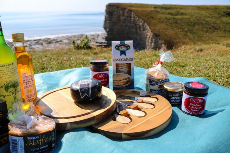 Welsh picnic produce