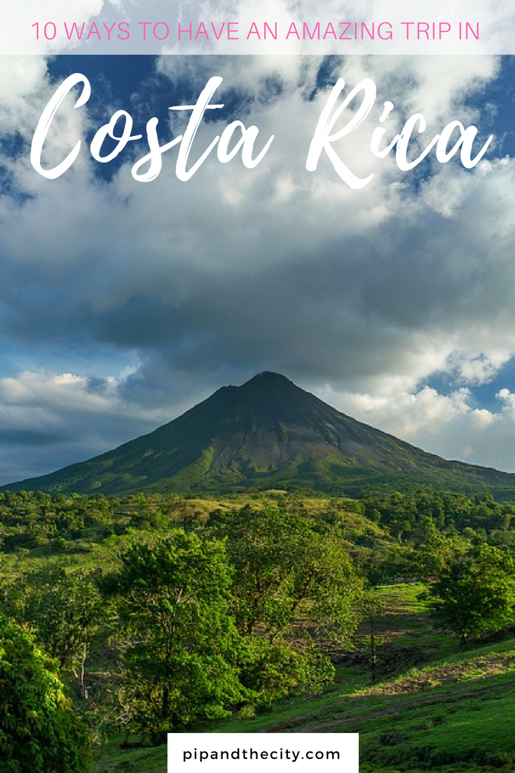 Costa Rica is a fantastic destination for adventure lovers Go zip-wiring in cloud forests, dive in clear waters, learn to surf and spot diverse wildlife! Read this guide to 10 ways to have an amazing trip to Costa Rica to learn more. #CostaRica #travel #traveltips #adventuretravel