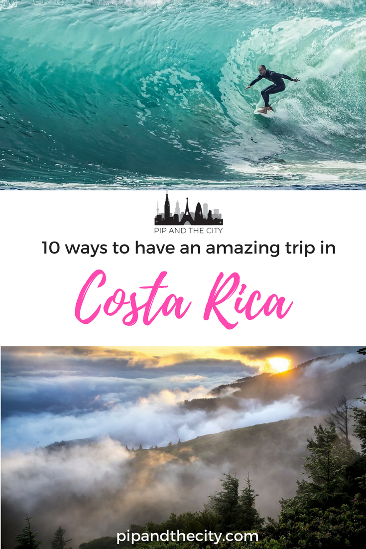 Costa Rica is a fantastic destination for adventure lovers Go zipwiring in cloud forests, dive in clear waters, learn to surf and spot diverse wildlife! Read this guide to 10 ways to have an amazing trip to Costa Rica to learn more. #CostaRica #travel #traveltips #adventuretravel