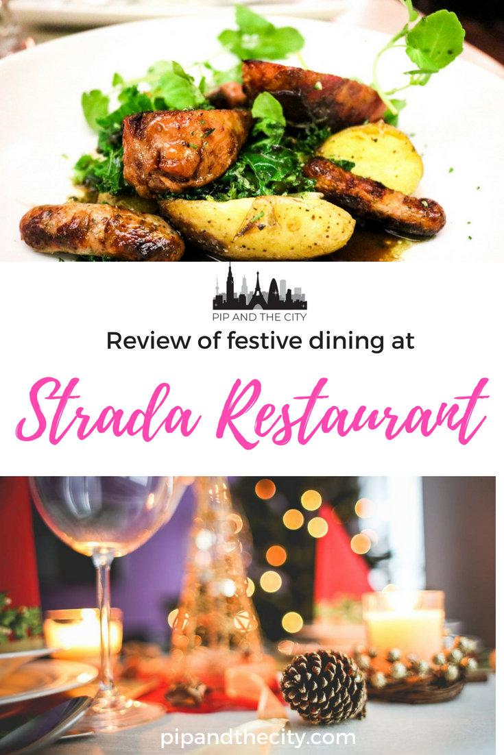 Why not experience festive dining at Strada Restaurant during the Christmas period? Strada offers a more contemporary twist on festive dining options, rather than the mundane fayre we have mostly come to accept. It's modern, refreshing and offers excellent value for a set festive menu. #christmas #foodie #christmasdinner