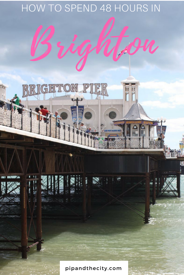 How to spend 48 hours in Brighton. Including things to see and do in Brighton, places to visit including Cabaret show and Royal Pavilion. Brighton is now a cosmopolitan and vibrant hangout town, perfect for a weekend getaway with shopping, street art and food #brighton #uk #travel #brightonuk #uktravel #seaside #beach #england