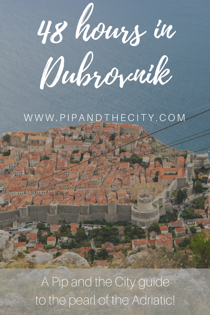 48 hours in Dubrovnik – A Guide to the Pearl of the Adriatic. Spend 48 hours in Dubrovnik and enjoy all the magnificent sites of the pearl of the Adriatic. With its imposing stone walls surrounding the old town, mix of Baroque and Renaissance architecture Dubrovnik is a great city to visit | #croatia #dubrovnik #europe #travel #visitdubrovnik #croatiatravel