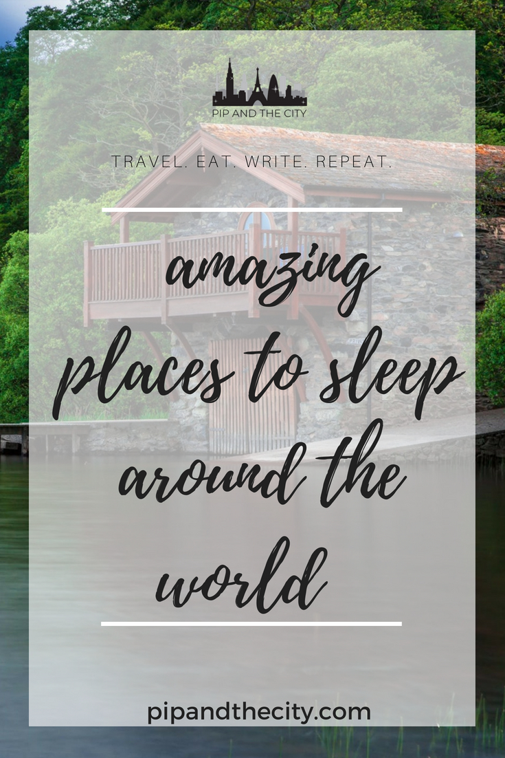 Amazing places to sleep around the world! What's the most amazing place you have ever spent the night in on your travels? There are some incredibly unique places you can spend the night in across the world and travellers are seeking out more unusual and Instagrammable accommodation on their travels. Here's a roundup featuring top travel blogger recommendations of amazing places to sleep around the world. #traveltips #hotel #unusualhotel #travel