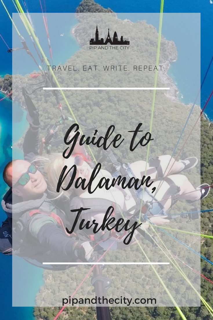 Pip and the City Guide to Dalaman – Turkey's Turquoise Coast! Discover beaches with the bluest waters, sailing, sunsets, paragliding and amazing #foodie finds in this gorgeous area of Turkey. #traveltips #turkey #beach