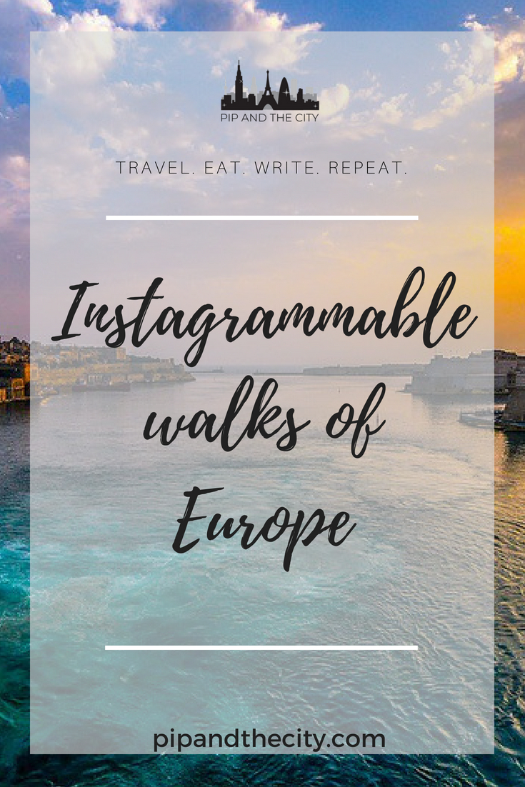 Instagrammable walks of Europe: With its beautiful and diverse landscapes, historical architecture and divergent cultures, exploring Europe by foot isa slow paced and immersive experience. You never have to travel particularly far in Europe find yourself in a new town, with new walks to attempt and Instagrammable spots to discover when you explore by foot. #Instagram #Europe #photography